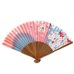 Pale Pink Small Floral Fan