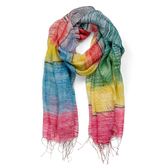 Rainbow Silk Scarf