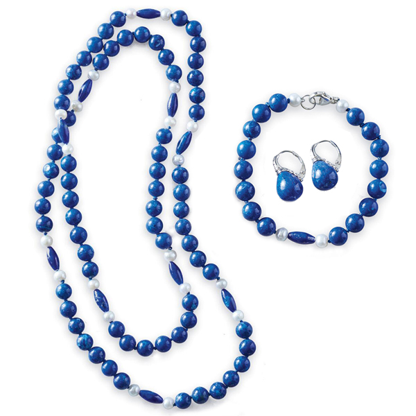 Classic Lapis And Pearl Jewelry